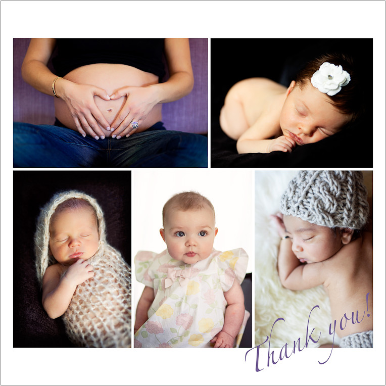 Photo montage of baby and maternity portraits from my Haiti fundraiser sessions