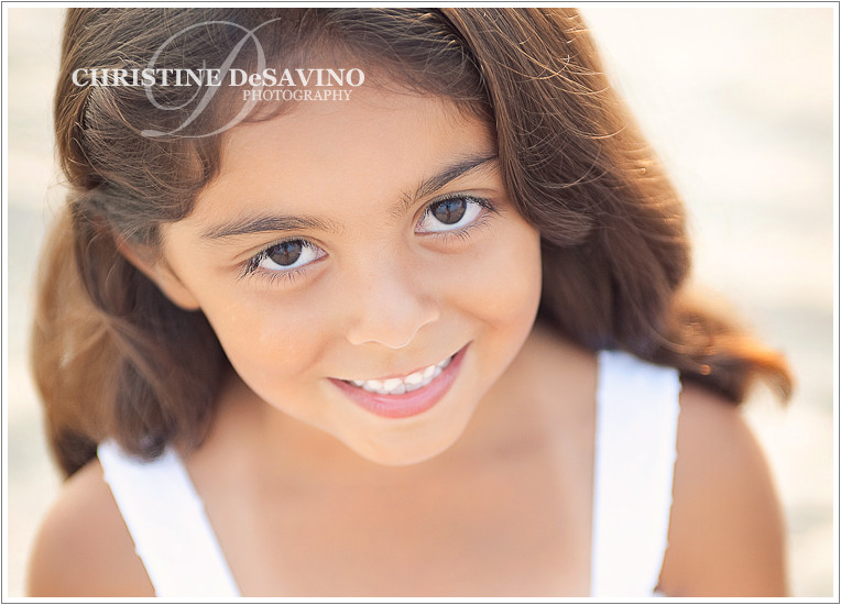 Close up of beautiful girl on the beach - LBI Beach Photographer