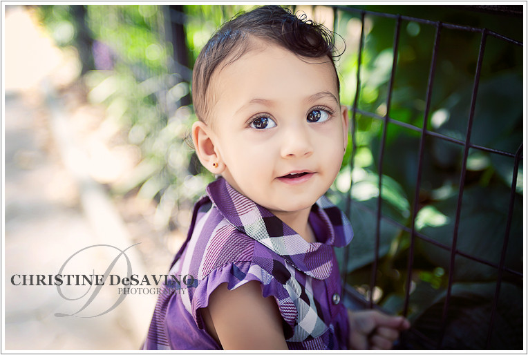 Close up of beautiful one year old girl - NYC Child Photograher