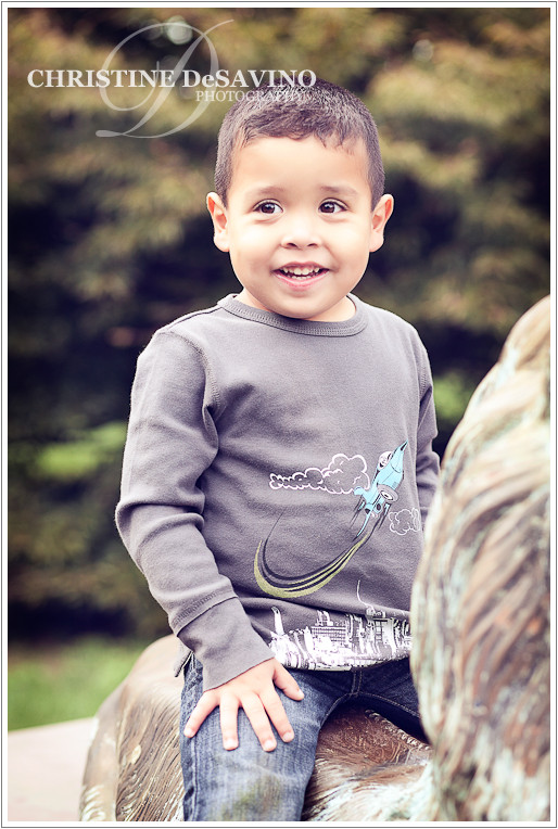 Boy smiling - NJ Children's Photographer