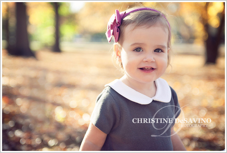 Adorable girl in autumn - NJ Children's Photographer