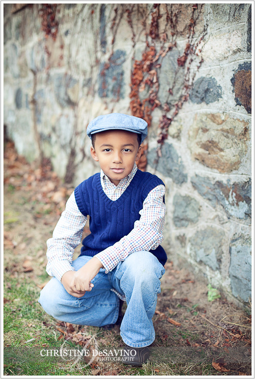 Boy in blue cap - NY Child Photographer