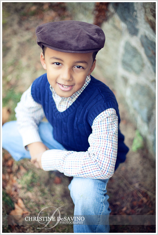 Boy wearing cap - NJ Child Photographer