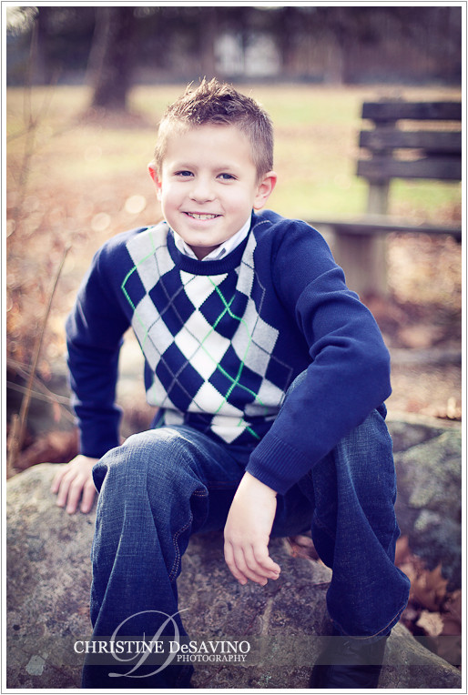 Handsome boy laughing - NJ Child Photographer