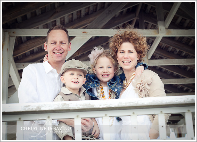 Family on gazebo - NJ Beach Photographer