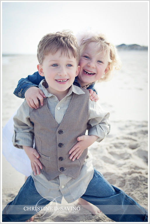 Twins on the beach - NJ Beach Photographer