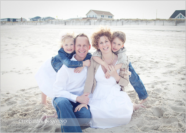 Beautiful family on the beach - NJ Beach Photographer