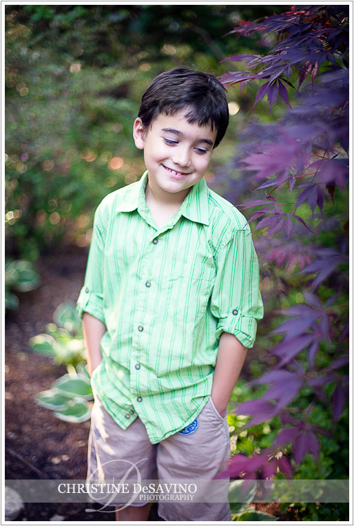 Boy smiling with hands in pockets - NJ Child Photographer