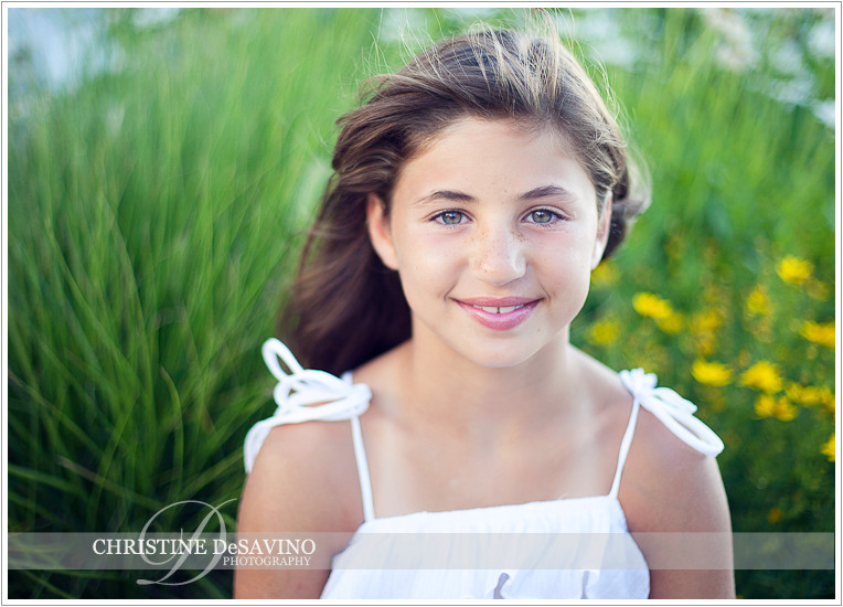 Beautiful girl with flowers - NJ Children's Photographer