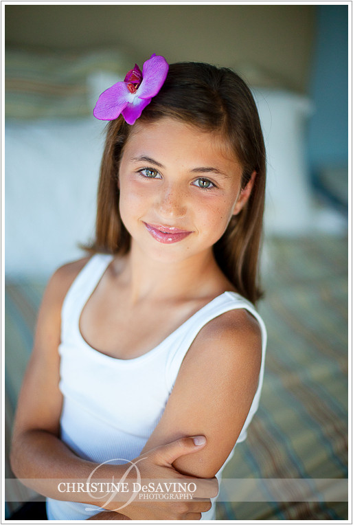 Beautiful girl with bow - NJ Child Photographer