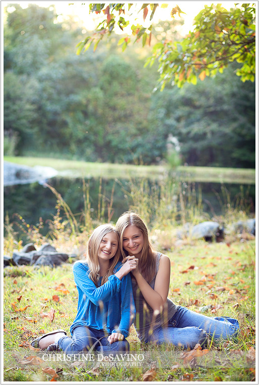 Sisters holding hands - NY Portrait Photographer
