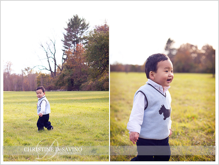 Young boy on the move - NJ Child Photographer