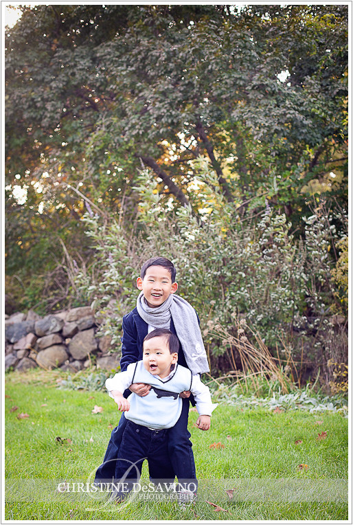 Brothers playing - NJ Family Photographer
